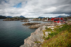 Spiaggia di Mortsund - Lofoten immagini stock libere da diritti