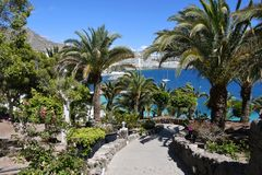 Spiaggia di Mst del fel di Anfi, isola di Gran Canaria, Spagna Fotografie Stock Libere da Diritti