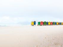 Spiaggia di Muizenberg, Cape Town, Sudafrica Fotografia Stock Libera da Diritti