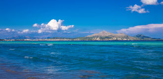 Spiaggia di Muro in Mallorca Fotografia Stock