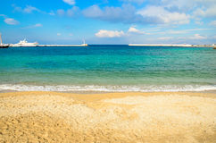 Spiaggia di Mykonos Immagine Stock
