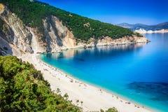 Spiaggia di Myrtos Fotografie Stock Libere da Diritti