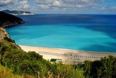 Spiaggia di Myrtos Fotografie Stock