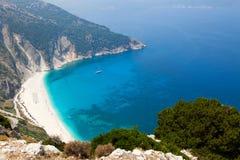 Spiaggia di Myrtos, Kefalonia Fotografie Stock