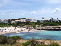 Spiaggia di N Bosch di Cala ', Menorca Spagna Fotografie Stock