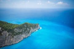 Spiaggia di Navagio, Zacinto, Grecia Immagini Stock Libere da Diritti