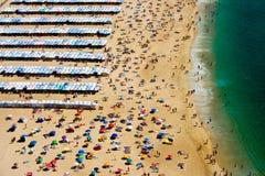 Spiaggia di Nazaré Fotografia Stock