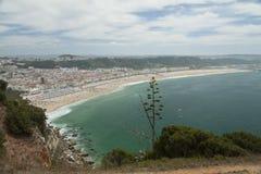 Spiaggia di Nazare, Portogallo Fotografia Stock Libera da Diritti
