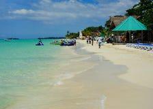 Spiaggia di Negril in Giamaica Fotografia Stock