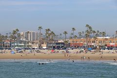 Spiaggia di Newport, California Immagine Stock Libera da Diritti