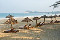 Spiaggia di Ngapali Fotografia Stock