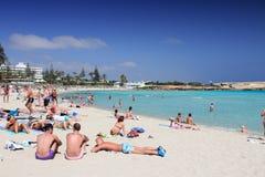 Spiaggia di Nissi, Cipro Immagine Stock
