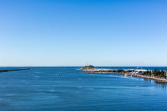 Spiaggia di Nobby s - Newcastle fotografia stock libera da diritti
