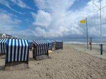 Spiaggia di Norderney Immagini Stock Libere da Diritti