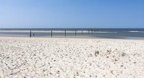 Spiaggia di Norderney, Germania Immagini Stock