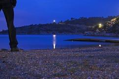 Spiaggia di notte Fotografie Stock