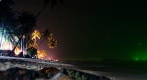 Spiaggia di notte Immagini Stock Libere da Diritti