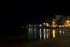 Spiaggia di notte Fotografia Stock Libera da Diritti
