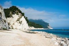 Spiaggia di Numana Fotografia Stock Libera da Diritti