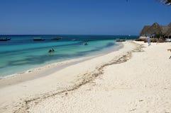 Spiaggia di Nungwe a Zanzibar Fotografia Stock Libera da Diritti