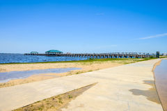 Spiaggia di Ocean Springs immagini stock
