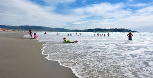 Spiaggia di Omaha - Nuova Zelanda Fotografia Stock Libera da Diritti