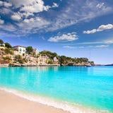 Spiaggia di Oporto Cristo a Manacor Maiorca Mallorca Fotografia Stock Libera da Diritti