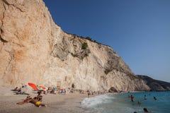 Spiaggia di Oporto Katsiki Fotografia Stock Libera da Diritti