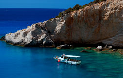 Spiaggia di Oporto Katsiki all'isola di Leucade Immagini Stock Libere da Diritti
