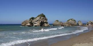 Spiaggia di Oporto Zoro, Zacinto, Grecia fotografia stock libera da diritti