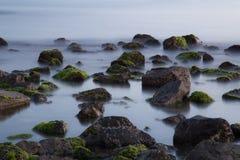 Spiaggia di Ostia e paesaggio lunare Fotografie Stock Libere da Diritti