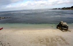 Spiaggia di pace Fotografie Stock