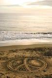Spiaggia di pace Fotografia Stock