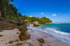 Spiaggia di Padang Padang - Bali Indonesia Fotografia Stock