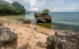 Spiaggia di Padang Padand in Bali, Indonesia fotografia stock