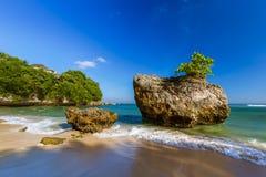 Spiaggia di Padang Padang - Bali Indonesia immagini stock