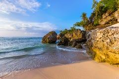 Spiaggia di Padang Padang - Bali Indonesia fotografie stock