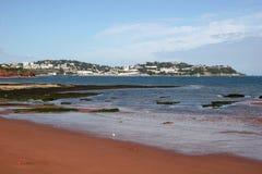 Spiaggia di Paignton fotografie stock libere da diritti