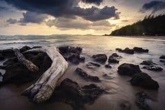Spiaggia di Pala quando tramonto fotografie stock libere da diritti