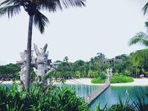 Spiaggia di Palawan, Singapore Immagini Stock