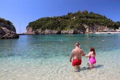 Spiaggia di Paleokastritsa, Corfù fotografia stock libera da diritti