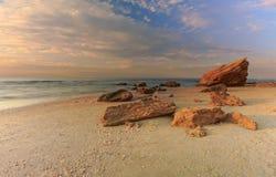 Spiaggia di Palmachim immagini stock