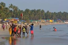 Spiaggia di Palolem in Goa Fotografia Stock