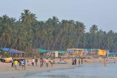 Spiaggia di Palolem in Goa Immagine Stock