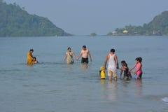 Spiaggia di Palolem in Goa Immagini Stock Libere da Diritti