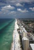 Spiaggia di Panama City - antenna immagini stock libere da diritti