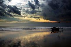 Spiaggia di Pangandaran Fotografie Stock