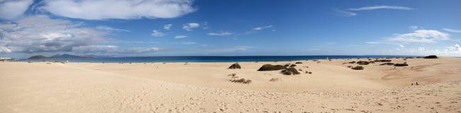 Spiaggia di panorama Immagini Stock Libere da Diritti