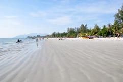 Spiaggia di Pantai Cenang Fotografia Stock