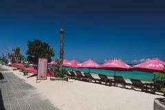 Spiaggia di Pantai Pendawa in Bali, Indonesia fotografia stock libera da diritti